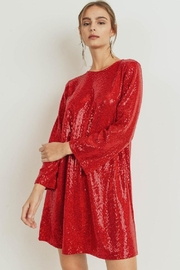 Cherish Red Sequined Shift - Product Mini Image