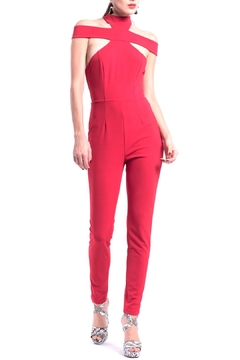 Shoptiques Product: Red Sexy Jumpsuit