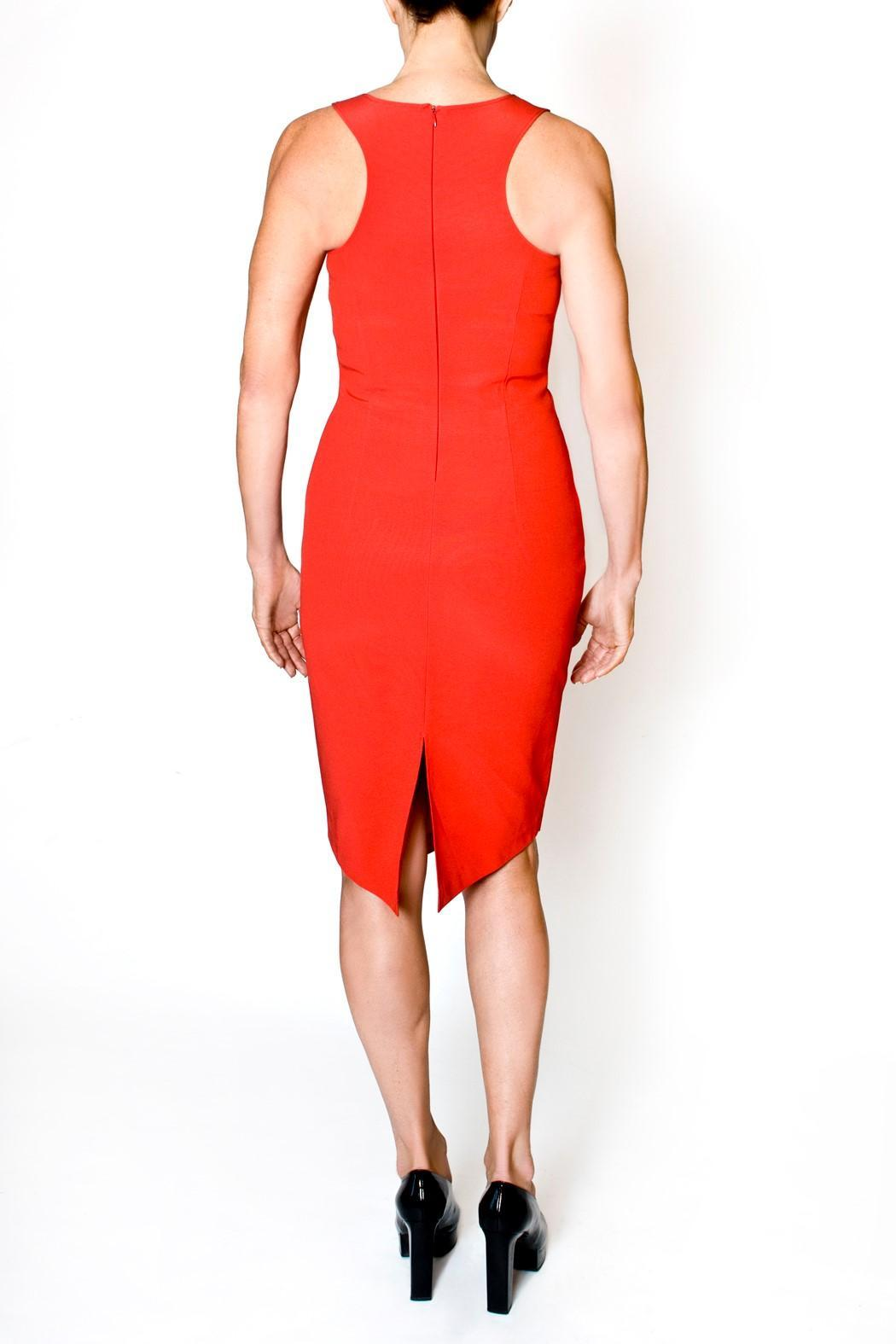 bella Forte Boutique Red Sheath Dress - Front Full Image