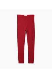 Hatley Red Shimmer Cable Knit Leggings - Product Mini Image