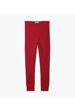 Shoptiques Product: Red Shimmer Cable Knit Leggings