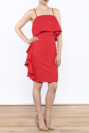 L'atiste Red Side Fall Dress - Product Mini Image