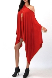 Got Style Red Sleeveless Poncho - Product Mini Image