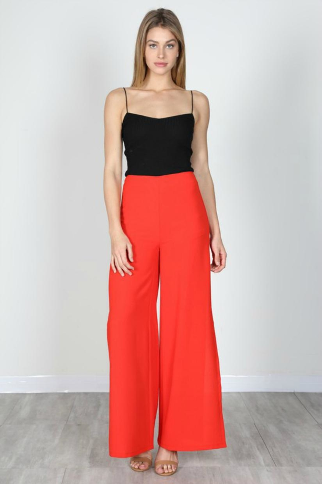 essue Red Slit Pants - Main Image