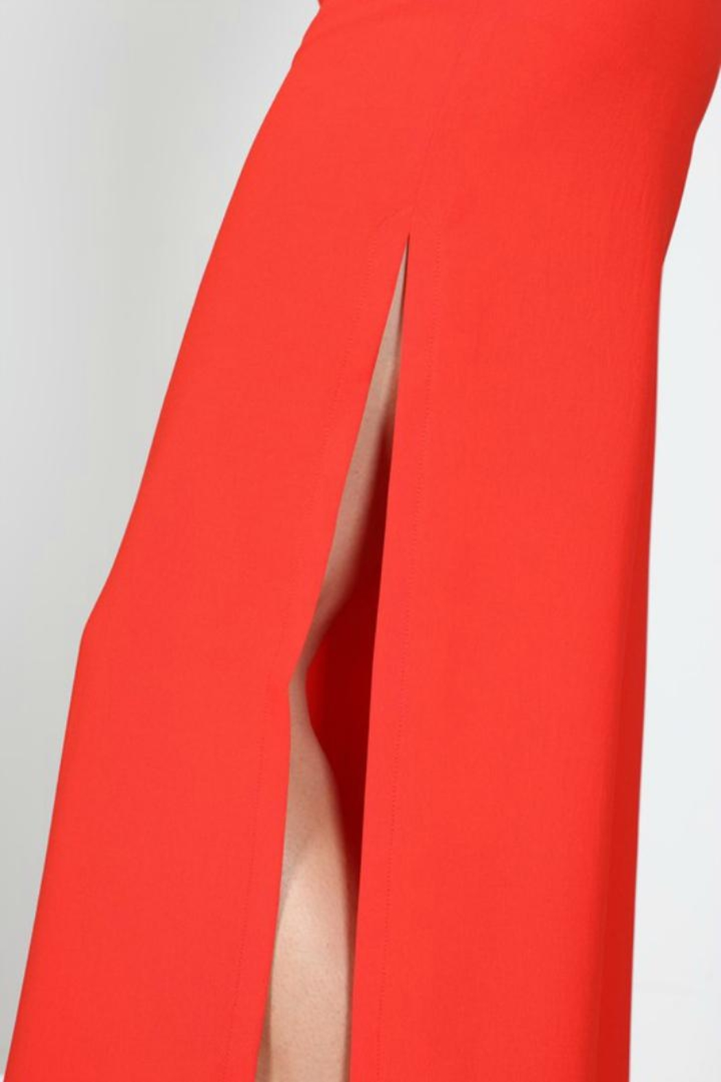 essue Red Slit Pants - Side Cropped Image