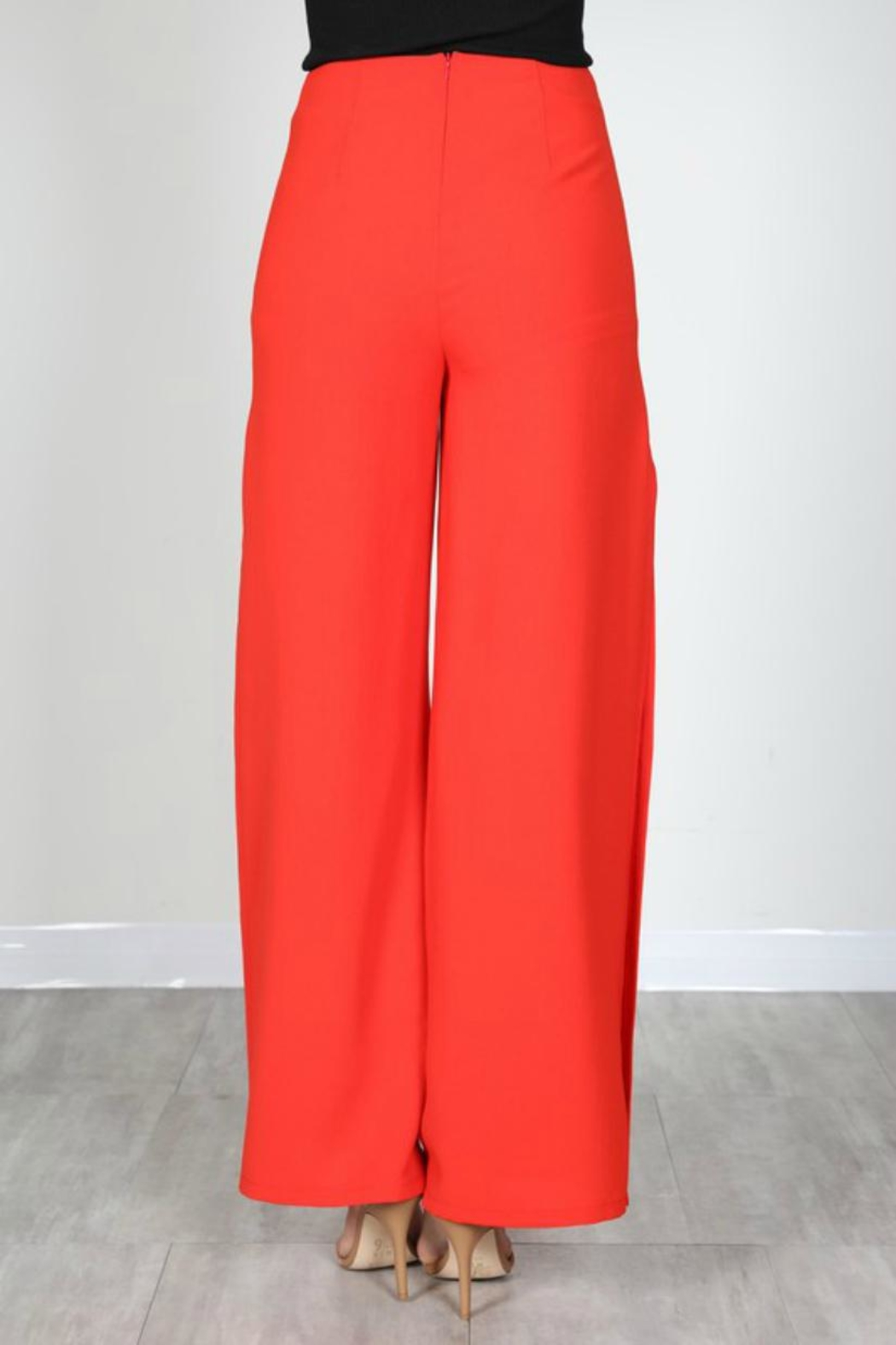 essue Red Slit Pants - Front Full Image