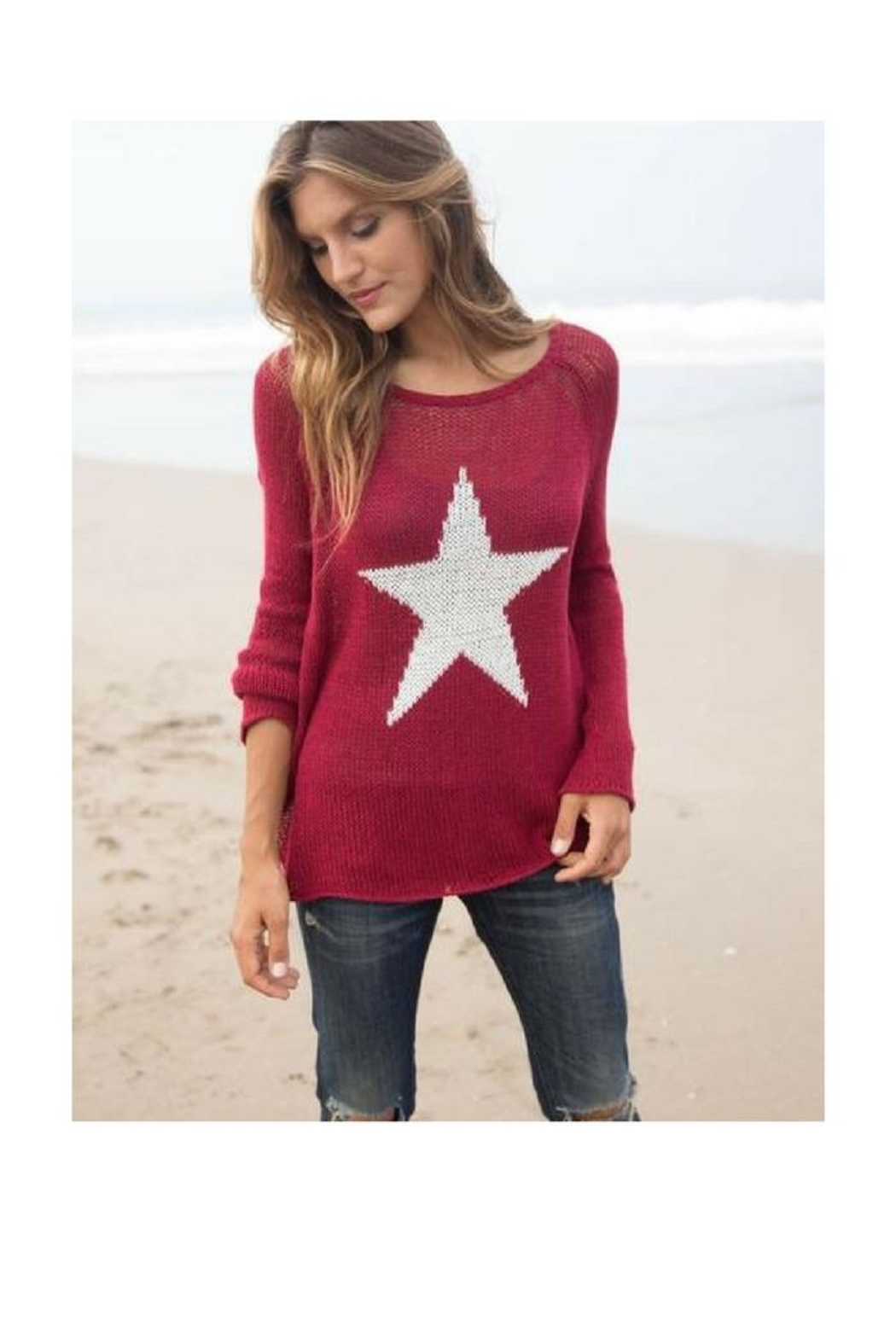 Wooden Ships Red Star Sweater - Main Image