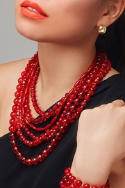Wild Lilies Jewelry  Red Statement Necklace - Product Mini Image
