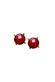 Wild Lilies Jewelry  Red Statement Studs - Product Mini Image