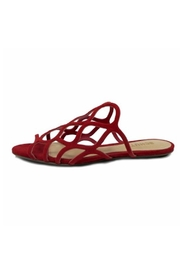 Schutz Red Strappy Sandal - Front cropped