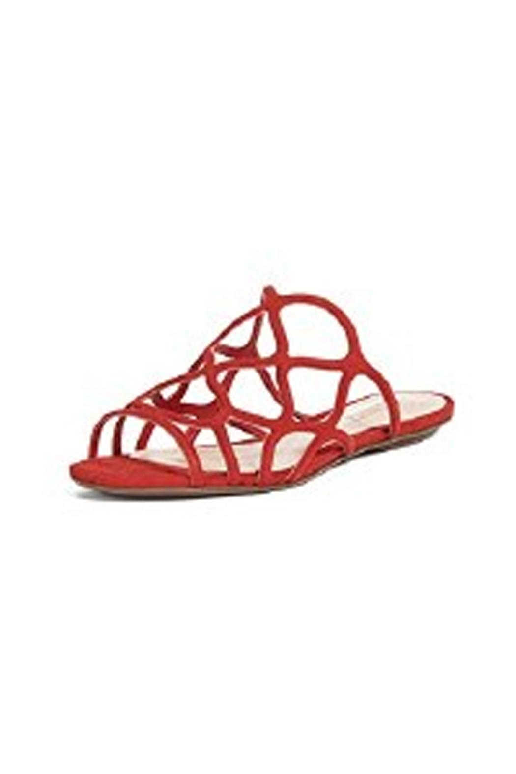 Schutz Red Strappy Sandal - Front Full Image