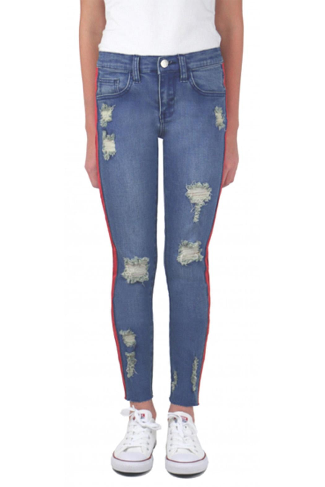 e922d21169846 Tractr Blu Red Stripe Jeans from New York by infinity/jjlaz — Shoptiques