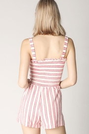 Hey  Red Stripe Romper - Back cropped