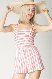 Hey  Red Stripe Romper - Front cropped