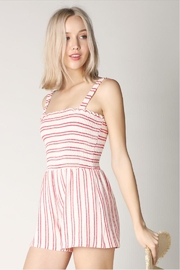Hey  Red Stripe Romper - Side cropped