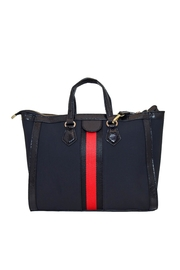 INZI Red Stripe Satchel - Front cropped