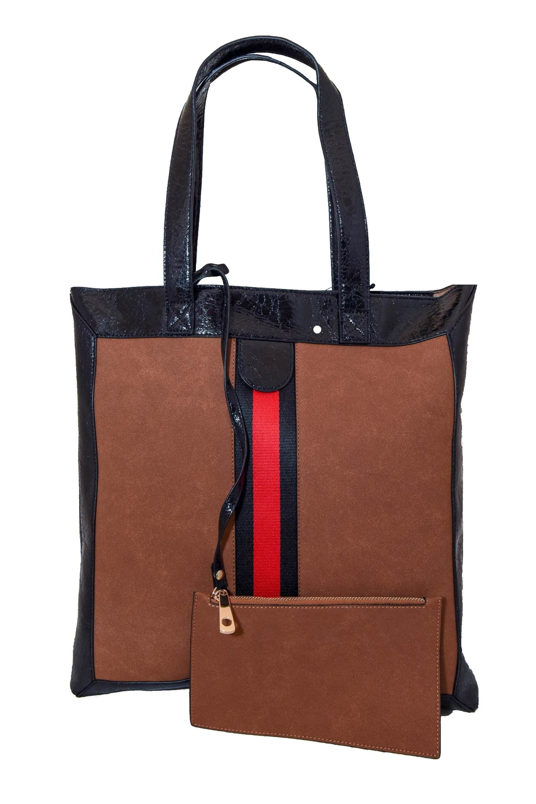 INZI Red Stripe Tote - Side Cropped Image