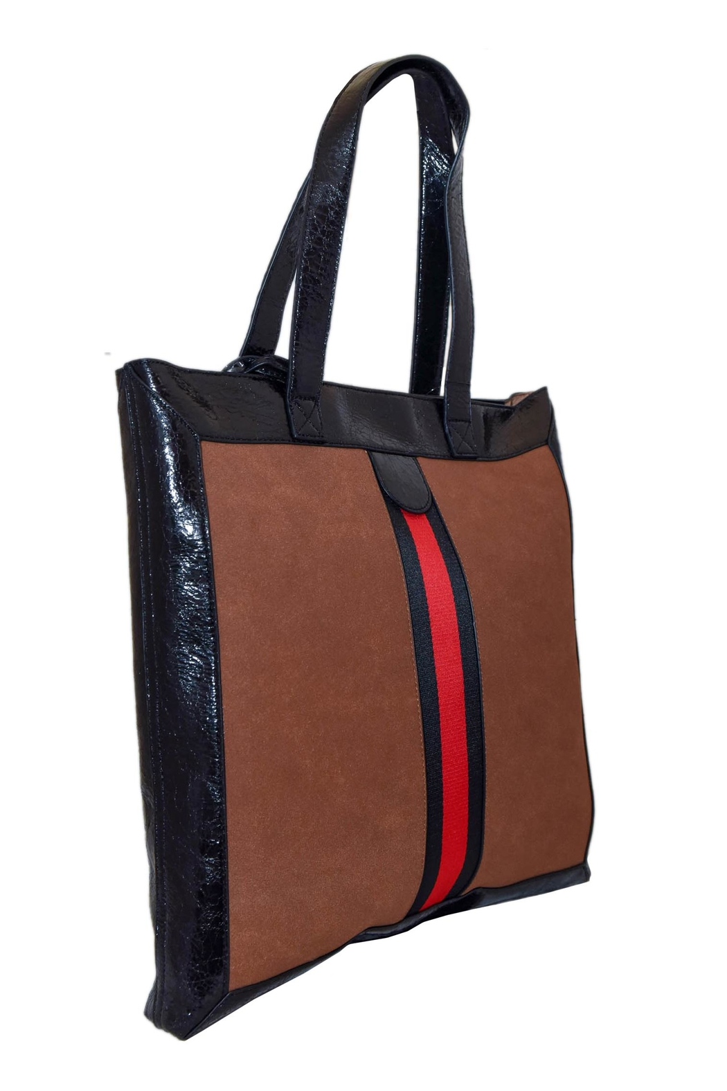 INZI Red Stripe Tote - Front Full Image