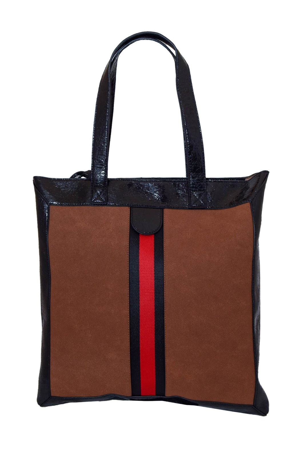 INZI Red Stripe Tote - Front Cropped Image