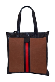 INZI Red Stripe Tote - Front cropped