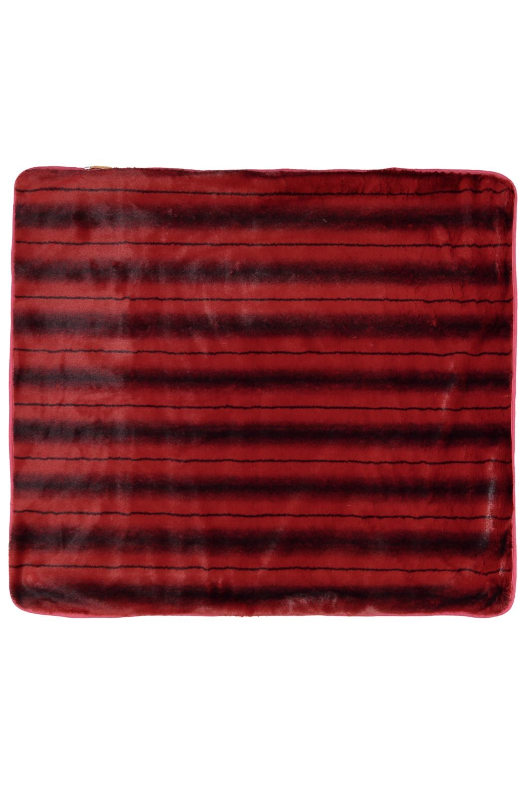 Juste Clé Red Striped Blanket - Front Full Image