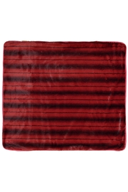 Juste Clé Red Striped Blanket - Front full body