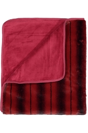 Juste Clé Red Striped Blanket - Front cropped