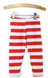 haven girl Red Striped Leggings - Front cropped
