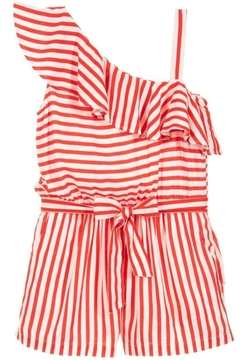 Mayoral Red Striped Playsuit - Alternate List Image