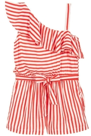 Mayoral Red Striped Playsuit - Product Mini Image
