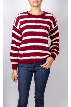 Emory Park Red Striped Pullover - Product List Image