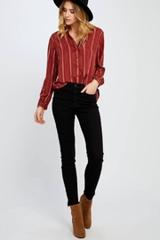 Gentle Fawn Red Stripped Woven - Front cropped