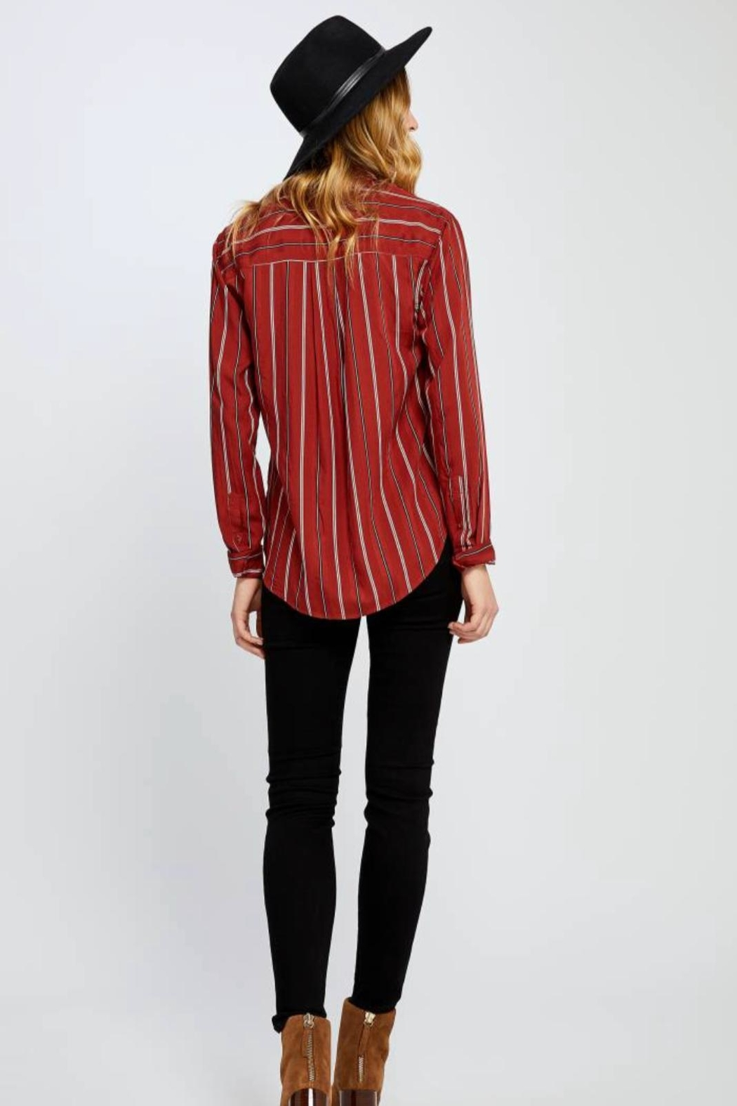 Gentle Fawn Red Stripped Woven - Side Cropped Image
