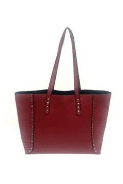 Shoptiques Product: Red Studded Reversible Tote