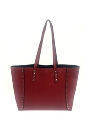 Allie & Chica Red Studded Reversible Tote - Product Mini Image