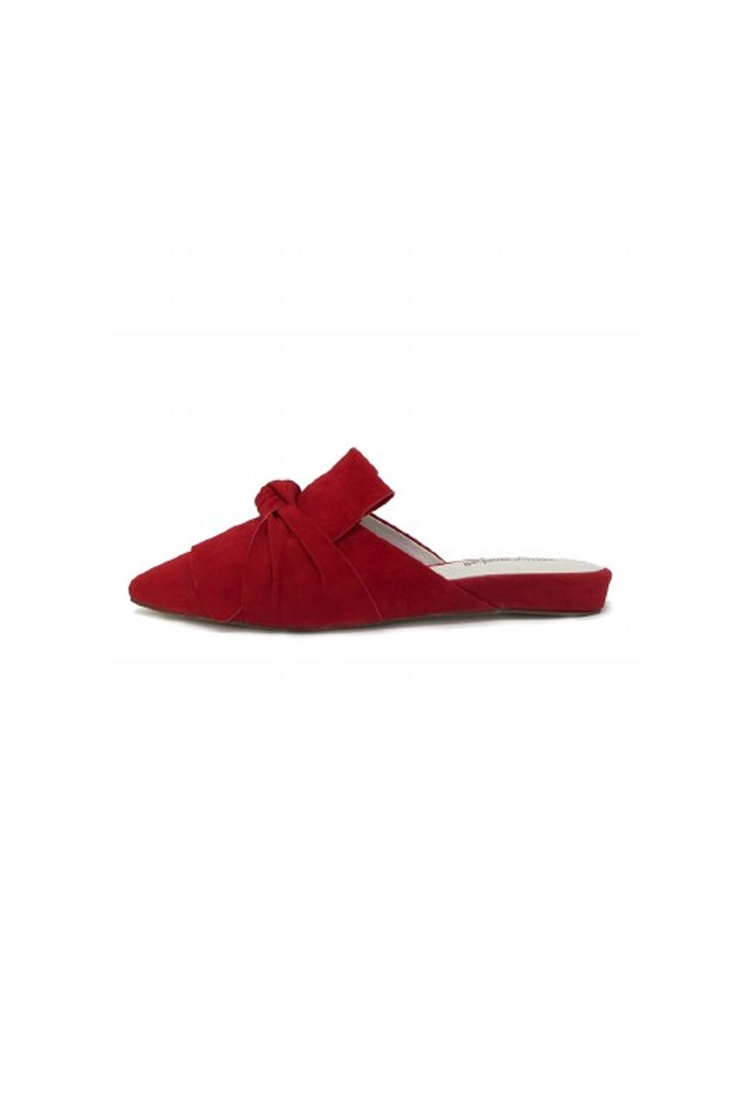 Jeffrey Campbell Red Suede Flats - Main Image