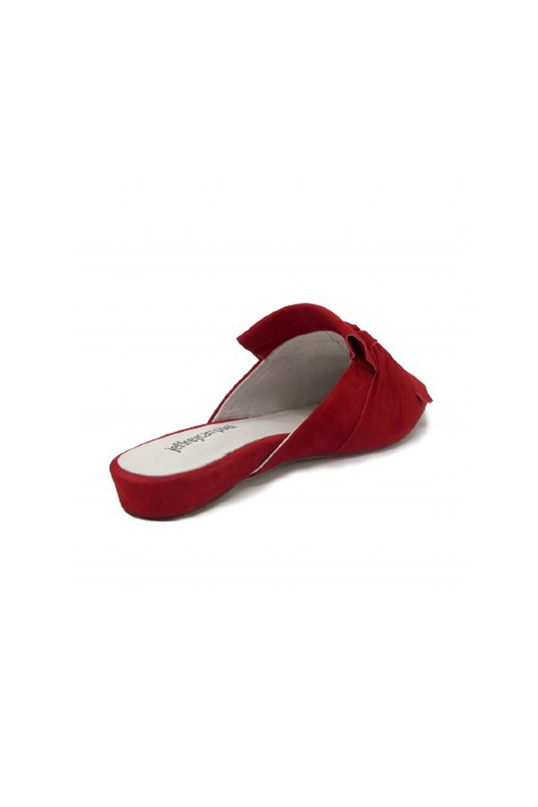 Jeffrey Campbell Red Suede Flats - Front Full Image