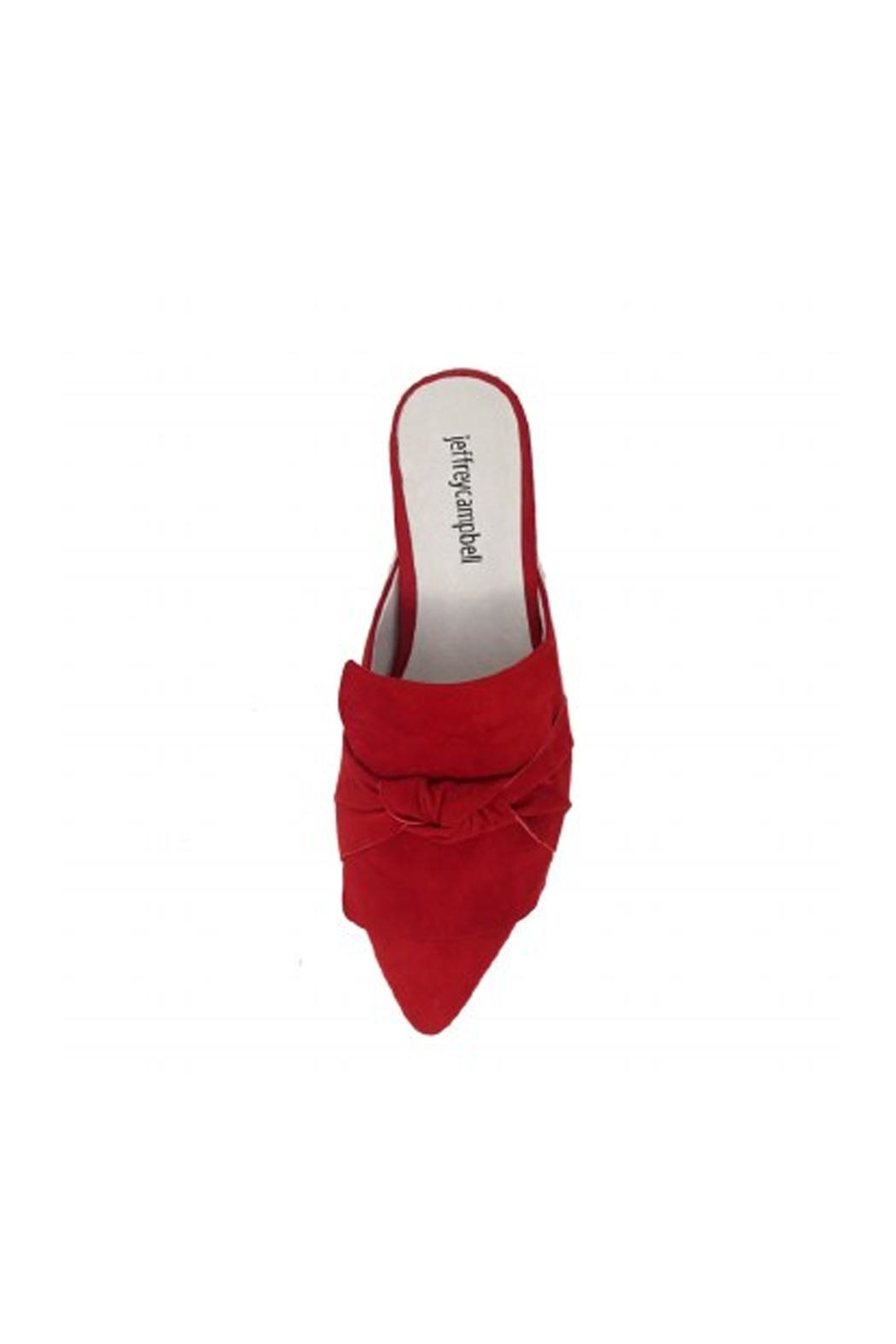 Jeffrey Campbell Red Suede Flats - Side Cropped Image