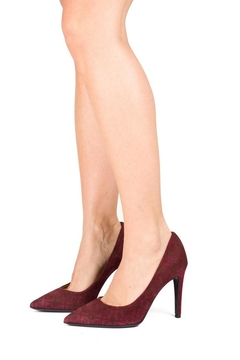 Lady Doc Red Suede Stiletto - Alternate List Image