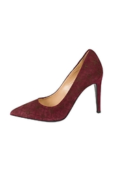 Lady Doc Red Suede Stiletto - Product Mini Image