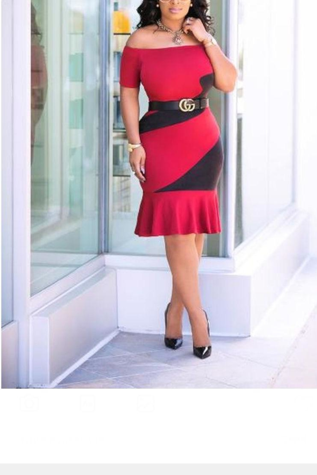 MODChic Couture Red Swirl Dress - Front Cropped Image