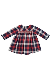 Paz Rodriguez Red Tartan Dress. - Front cropped