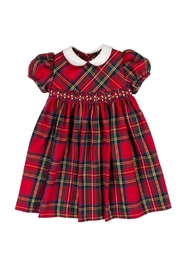 Malvi & Co. Red Tartan Dress. - Front cropped