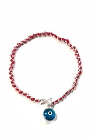Lets Accessorize Red-Thread Evil-Eye Silver-Bracelet - Product Mini Image