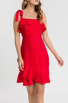 English Factory Red Tie Dress - Product List Image