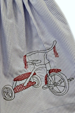 La Jenns Red-Tricycle-Embroidered-Dress - Alternate List Image