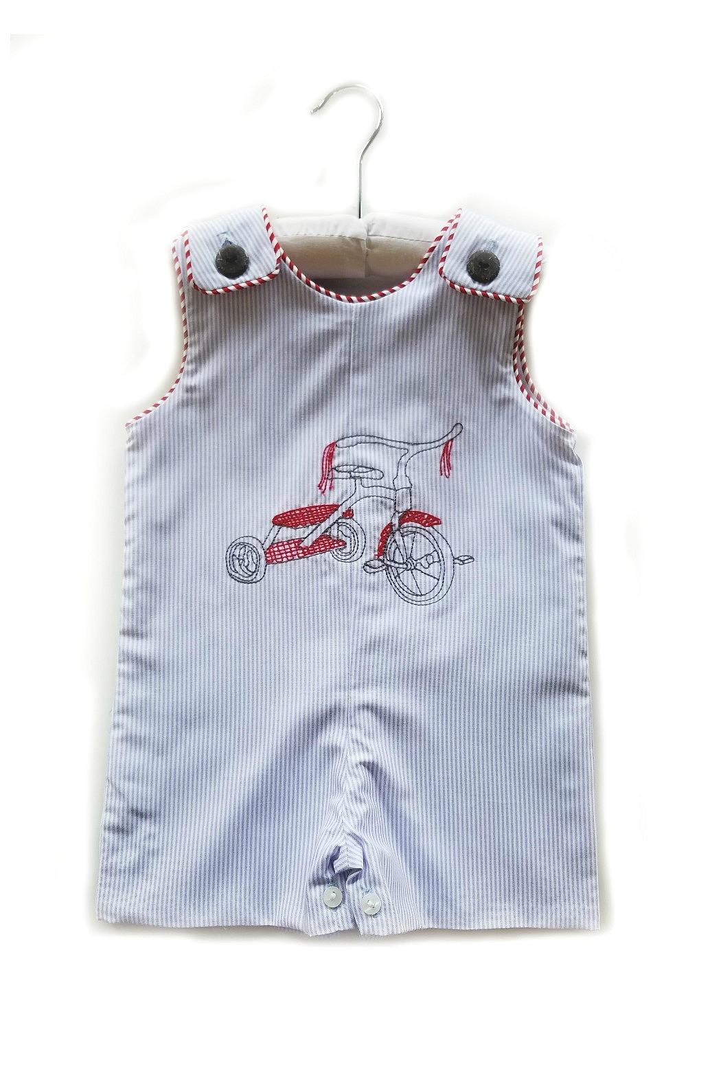 78c93ebbd La Jenns Red-Tricycle-Embroidered-Jon-Jon from South Carolina by The ...