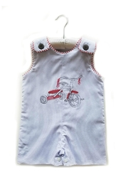 La Jenns Red-Tricycle-Embroidered-Jon-Jon - Front cropped