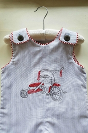 La Jenns Red-Tricycle-Embroidered-Jon-Jon - Front full body