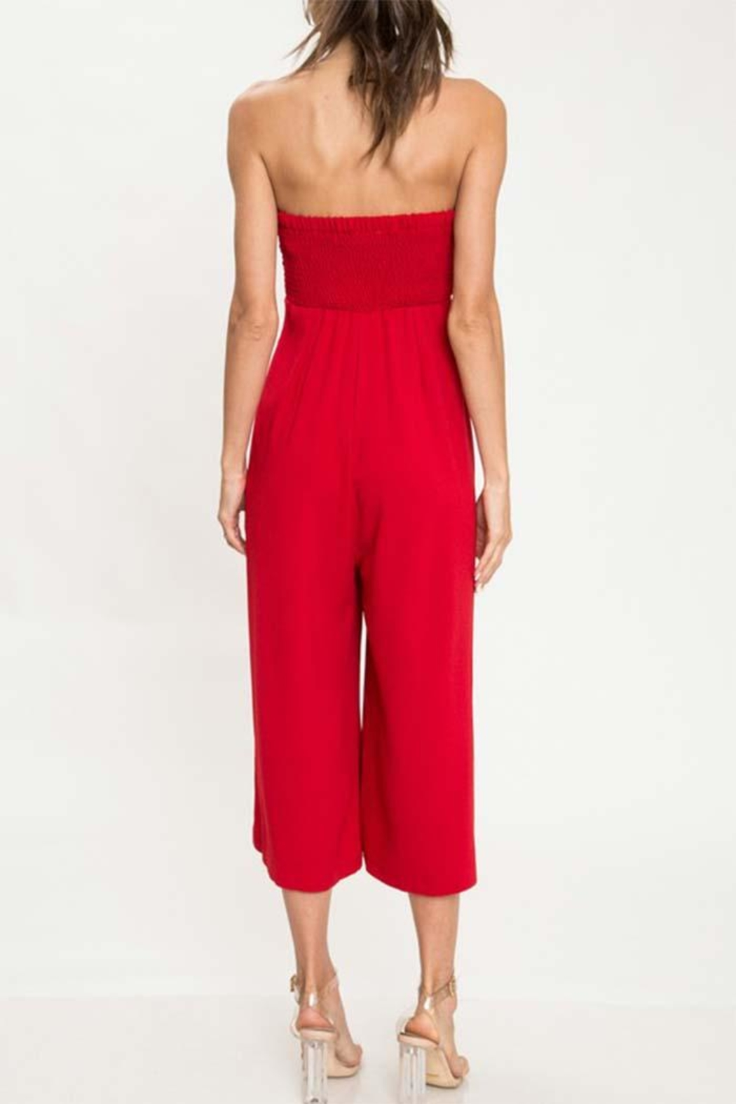 L'atiste Red Tube Jumpsuit - Side Cropped Image